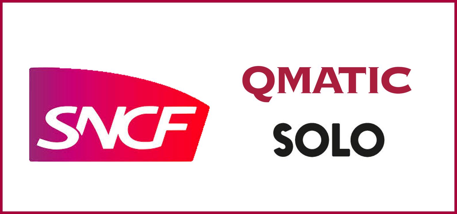 Logos de SNCF y Qmatic