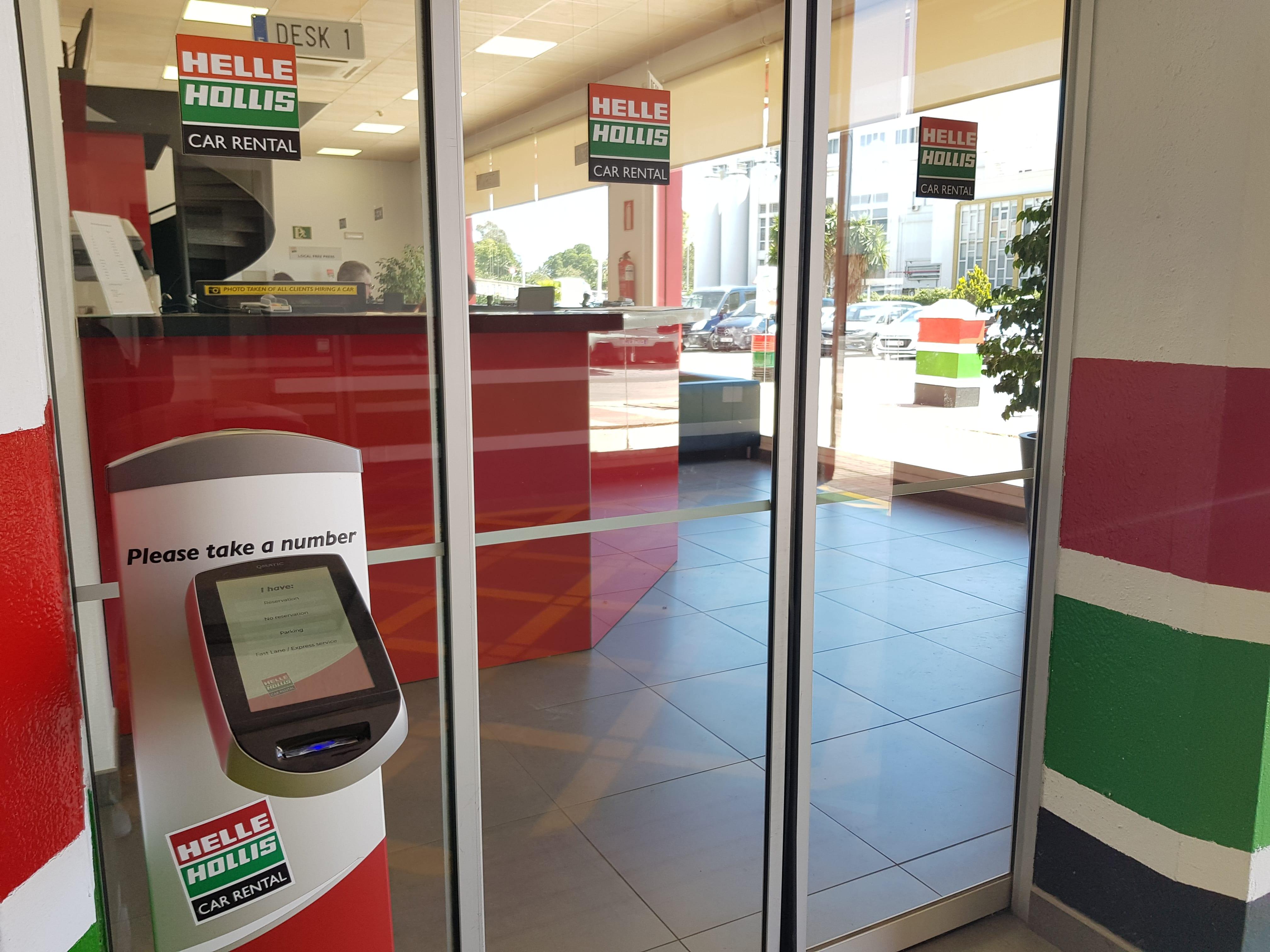 Kioscos autoservicio en Helle Hollis Car Rental