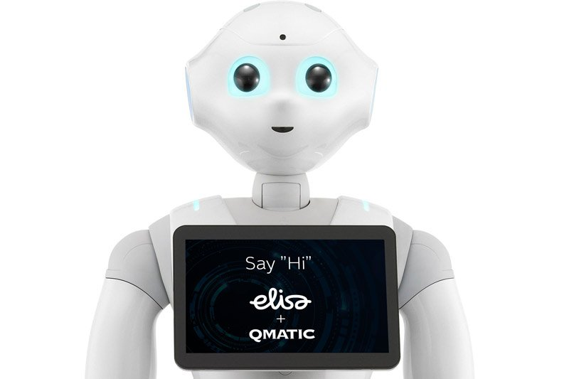 Humanoid robot integrated with Qmatic Orchestra