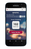 Mobile ticket qmatic