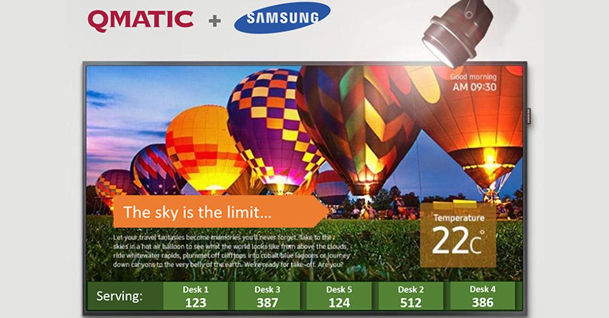 Qmatic Samsung partnership