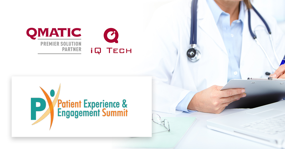 Healthcare summit banner with hands and logo