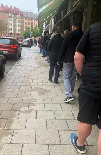 Vaccinationskö Stockholm maj 2021