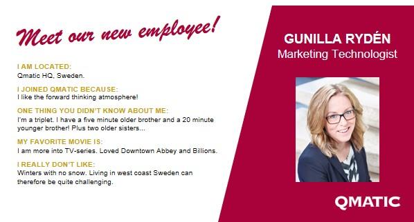 Meet our new employee LinkedIn GunillaRyden