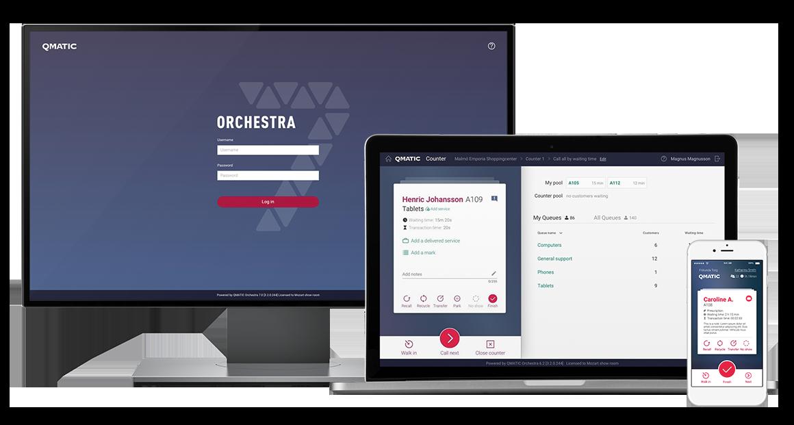 Orchestra7 UI mockups